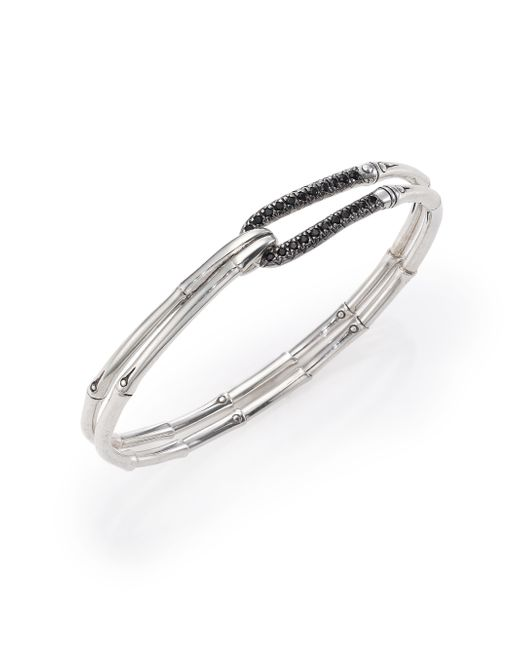John Hardy | Metallic Bamboo Sapphire & Sterling Silver Hook Bangle Bracelet | Lyst