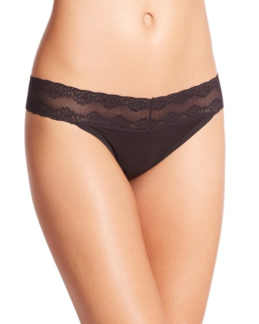 Natori Foundations | Black Bliss Perfection Thong | Lyst