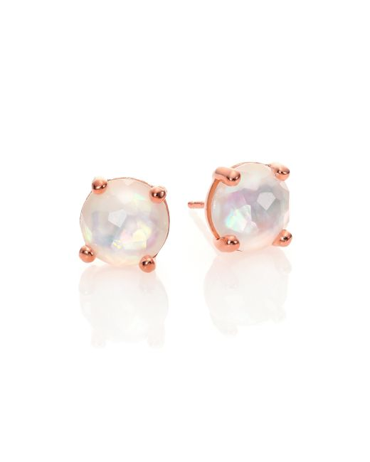 Ippolita | Pink Rose Rock Candy Mother-of-pearl & Clear Quartz Doublet Mini Stud Earrings | Lyst
