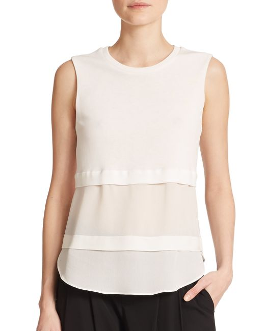 A.L.C. | White Palmer Layered Top | Lyst