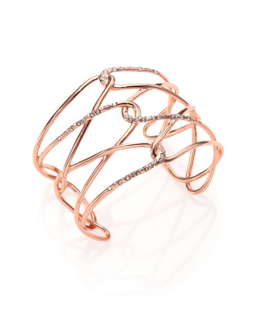 Alexis Bittar   Pink Miss Havisham Liquid Crystal Barbed Cuff Bracelet/rose Goldtone   Lyst