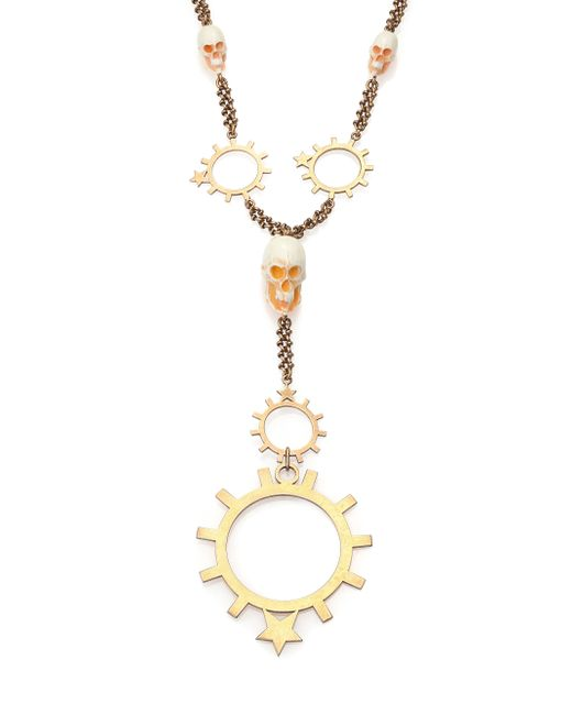 Givenchy   Metallic Rosary Pendant Necklace for Men   Lyst