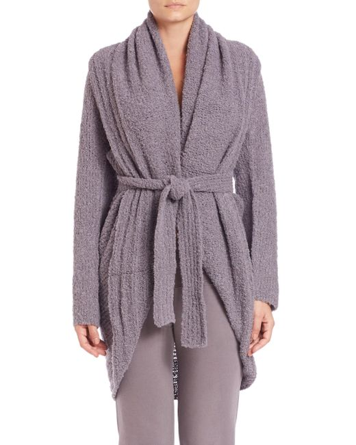 Skin | Gray Boucle Wrap Cardigan | Lyst