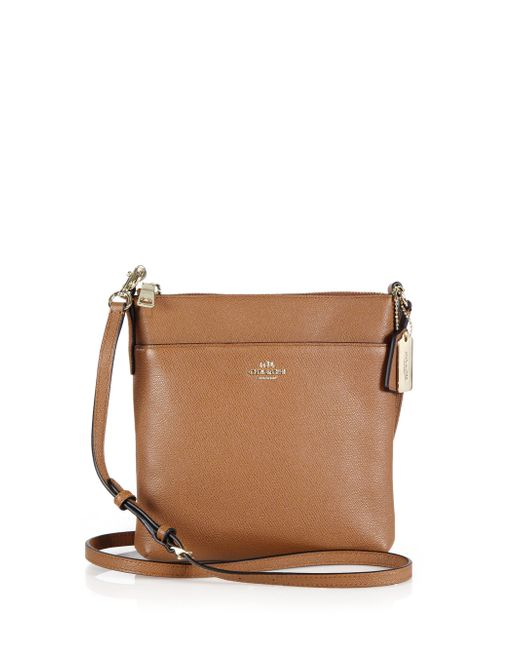 COACH | Brown North/South Leather Cross-Body Bag | Lyst