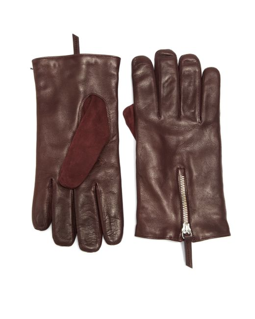 Want Les Essentiels De La Vie | Red Mozart Leather & Suede Zip Gloves for Men | Lyst