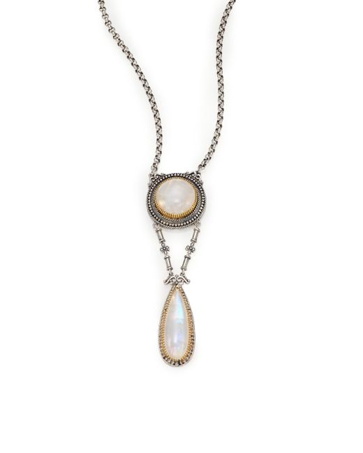 Konstantino | Metallic Erato Labradorite, 18k Yellow Gold & Sterling Silver Drop Pendant Necklace | Lyst