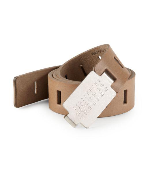 Maison Margiela | Brown Leather Belt for Men | Lyst