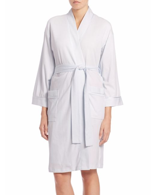 Saks Fifth Avenue | Blue Pima Cotton Jersey Robe | Lyst