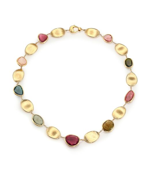 Marco Bicego | Metallic Lunaria Multicolor Tourmaline & 18k Yellow Gold Collar Necklace | Lyst