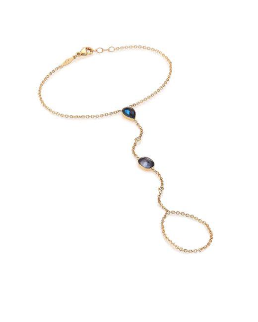 Jacquie Aiche | Metallic Blue Topaz, Diamond & 14k Yellow Gold Hand Chain Bracelet | Lyst