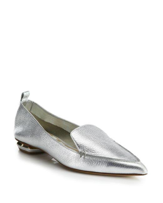 Nicholas Kirkwood | Metallic Beya Botalatto Leather Loafers | Lyst