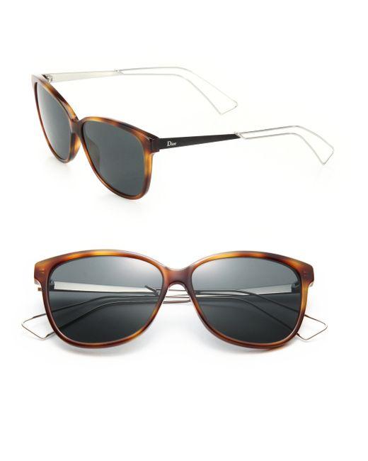 Dior | Brown Confident 57mm Square Sunglasses | Lyst