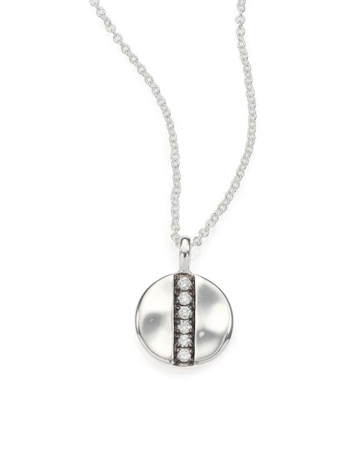 Ippolita | Metallic Glamazon Stardust Diamond & Sterling Silver Mini Disc Pendant Necklace | Lyst