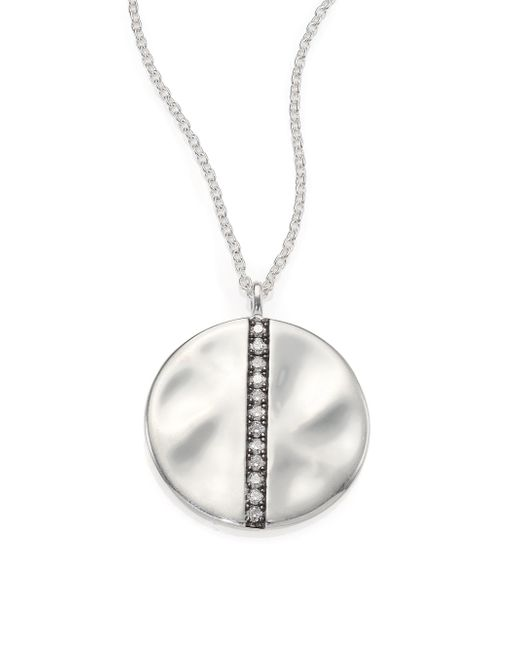 Ippolita | Metallic Glamazon Stardust Diamond & Sterling Silver Large Disc Pendant Necklace | Lyst