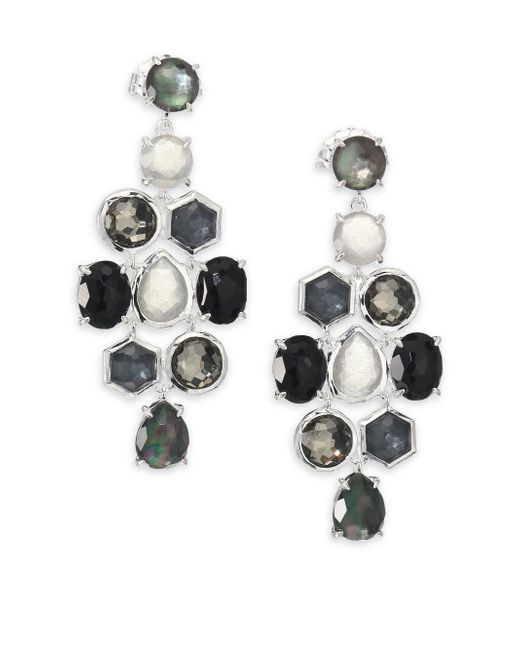 Ippolita | Metallic Rock Candy Black Tie Semi-precious Multi-stone & Sterling Silver Cascade Chandelier Earrings | Lyst