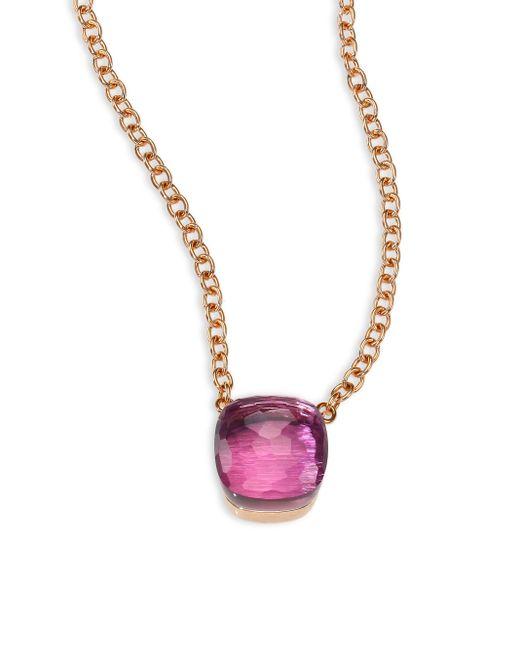 Pomellato | Pink Amethyst & 18k Rose Gold Pendant Necklace | Lyst