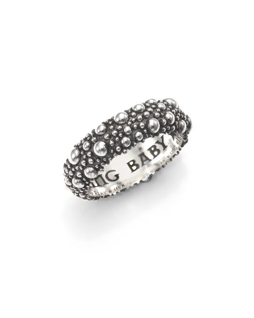 King Baby Studio | Metallic Textured Sterling Silver Band Ring | Lyst