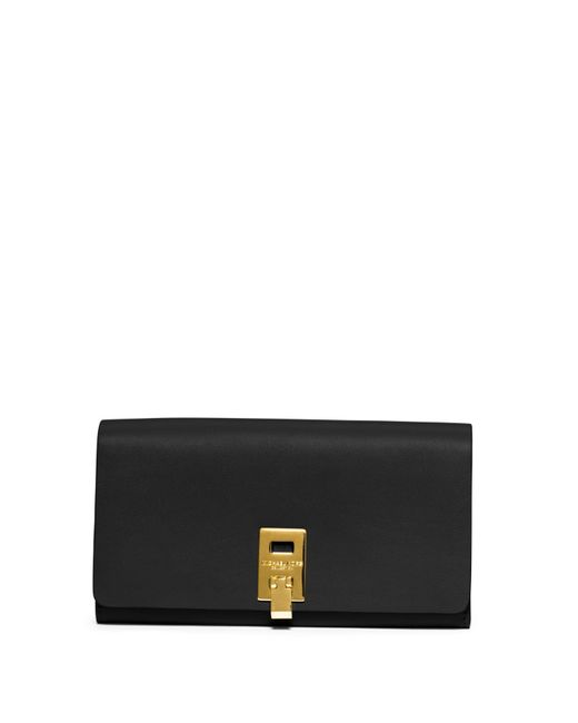 Michael Kors | Black Miranda Leather Continental Wallet | Lyst