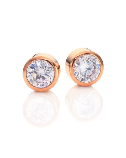 Michael Kors | Pink Park Avenue Glam Jeweled Stud Earrings/rose Goldtone | Lyst