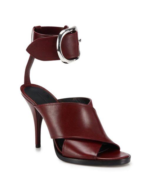 Alexander Wang | Purple Evelin Leather Crisscross Sandals | Lyst