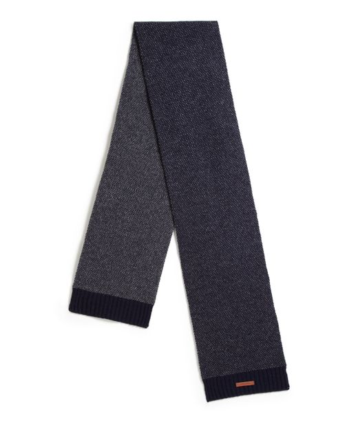 Bickley + Mitchell | Blue Lambswool Mixed Pattern Scarf for Men | Lyst