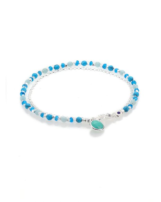 Astley Clarke | Blue Biography Turquoise, Appatite, Amazonite & Sterling Silver Beaded Friendship Bracelet | Lyst