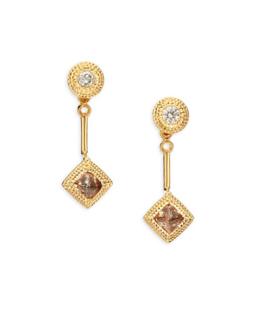 De Beers | Metallic Talisman Essence Diamond & 18k Yellow Gold Drop Earrings | Lyst