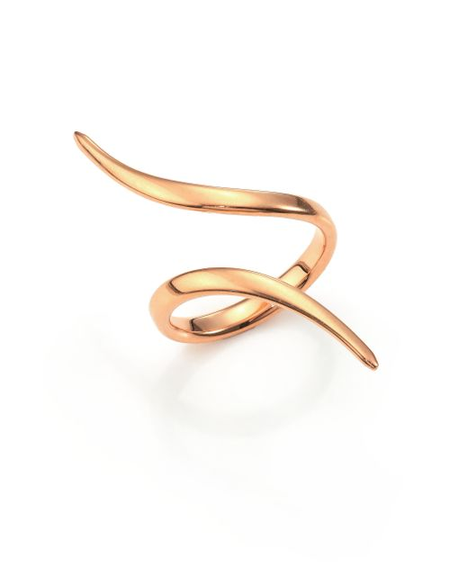 Diane Kordas | Pink 18k Rose Gold Wrap Ring | Lyst