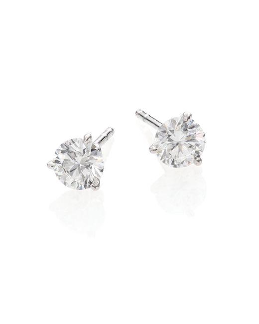 Roberto Coin | Metallic Diamond & 18k White Gold Stud Earrings/1.0 Tcw | Lyst