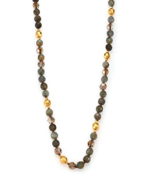 Chan Luu | Multicolor Labradorite & Crystal Long Beaded Necklace | Lyst
