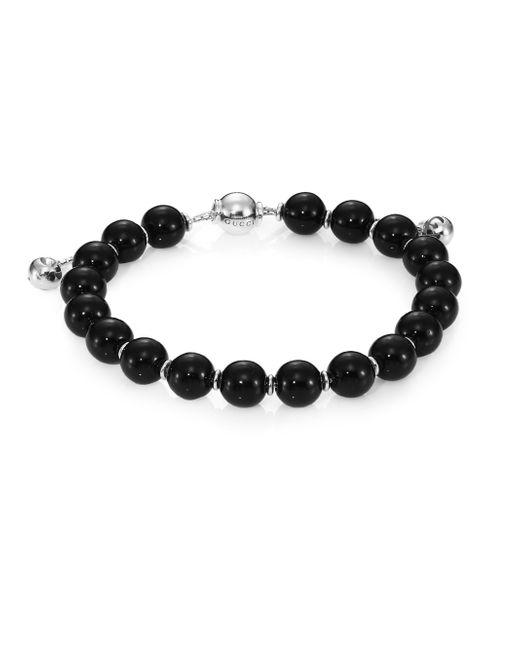 Gucci | Metallic Boule Britt Beaded Bracelet | Lyst