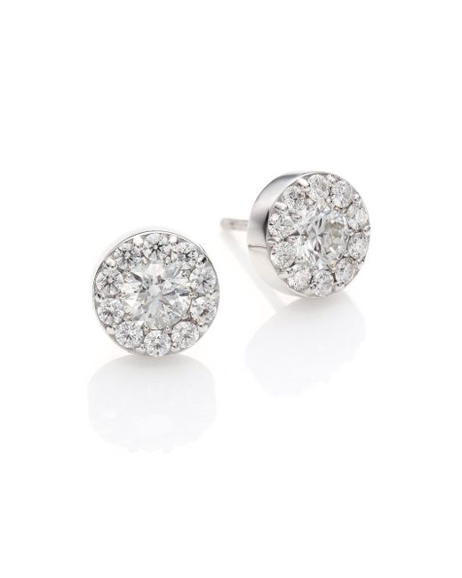 Hearts On Fire | Metallic Fulfillment Diamond & 18k White Gold Stud Earrings | Lyst