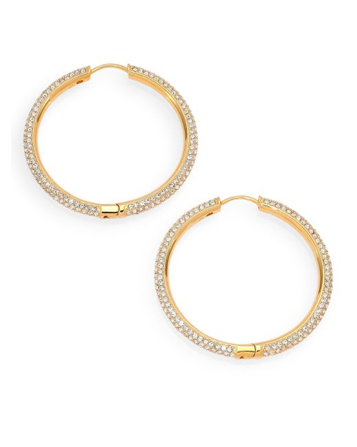 Adriana Orsini | Metallic Pave Hoop Earrings/1.4 | Lyst