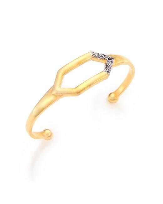 Shana Gulati | Metallic Charushila Elmas Black Diamond & 18k Yellow Gold Vermeil Cuff Bracelet | Lyst