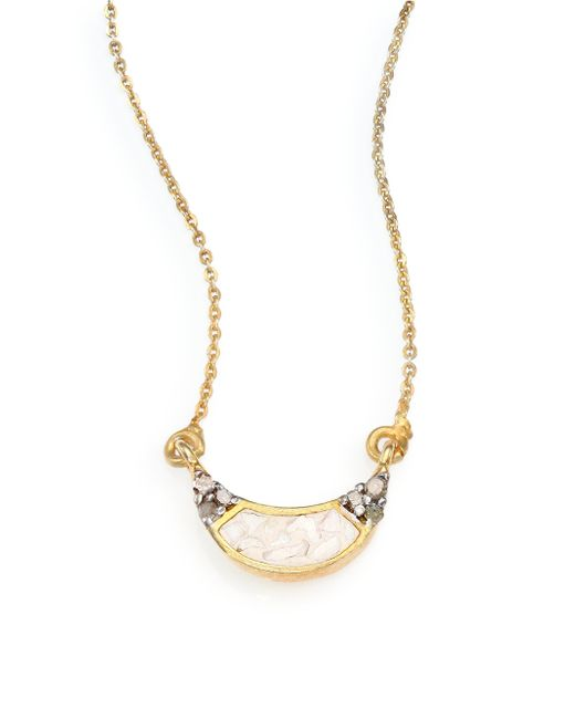 Shana Gulati | Metallic Banjara Champagne Diamond Noorpur Pendant Necklace | Lyst