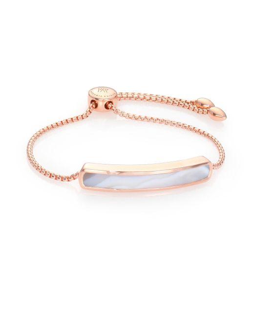Monica Vinader   Pink Baja Agate Chain Bracelet   Lyst