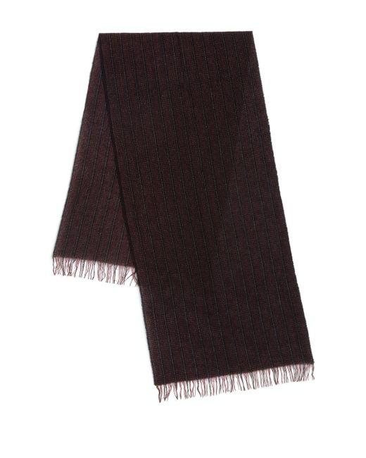 John Varvatos   Purple Ticking Stripe Cashmere Scarf for Men   Lyst