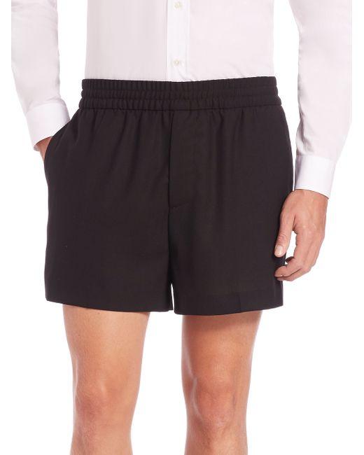 Acne | Black Ryder Wool Dress Shorts for Men | Lyst