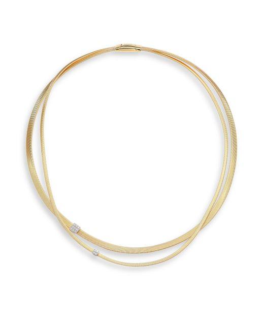 Marco Bicego   Metallic Masai Diamond, 18k Yellow Gold & 18k White Gold Double-strand Necklace   Lyst
