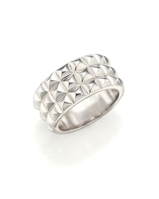 Stephen Webster | Metallic Quilted Sterling Silver Ring | Lyst