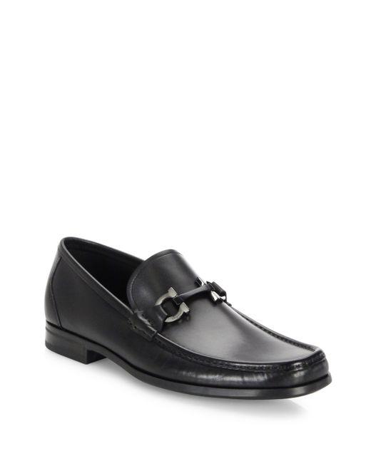 Ferragamo   Black Grandioso Leather Bit Loafers for Men   Lyst