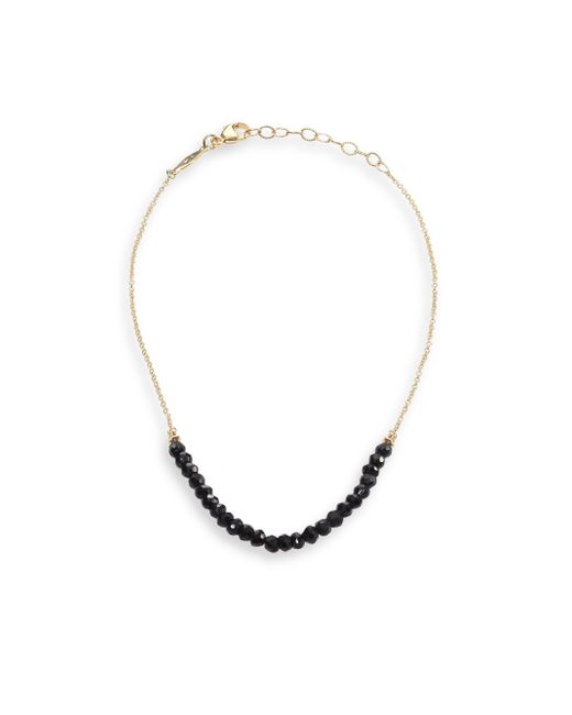 Jacquie Aiche   Black Spinel & 14k Yellow Gold Anklet   Lyst