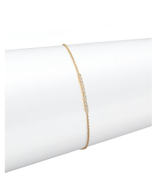 Zoe Chicco | Metallic Diamond & 14k Yellow Gold Bar Bracelet | Lyst