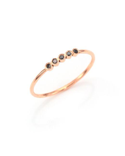 Zoe Chicco | Pink Black Diamond & 14k Rose Gold Ring | Lyst