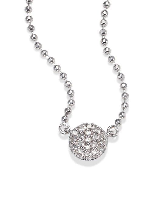Phillips House | Metallic Affair Micro Infinity Diamond & 14k White Gold Pendant Necklace | Lyst