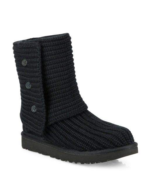 UGG | Black Ugg 'classic Cardy Ii' Knit Boot | Lyst
