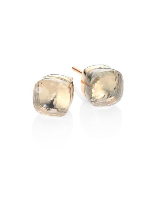 Pomellato | Metallic Topaz, 18k Rose & White Gold Stud Earrings | Lyst