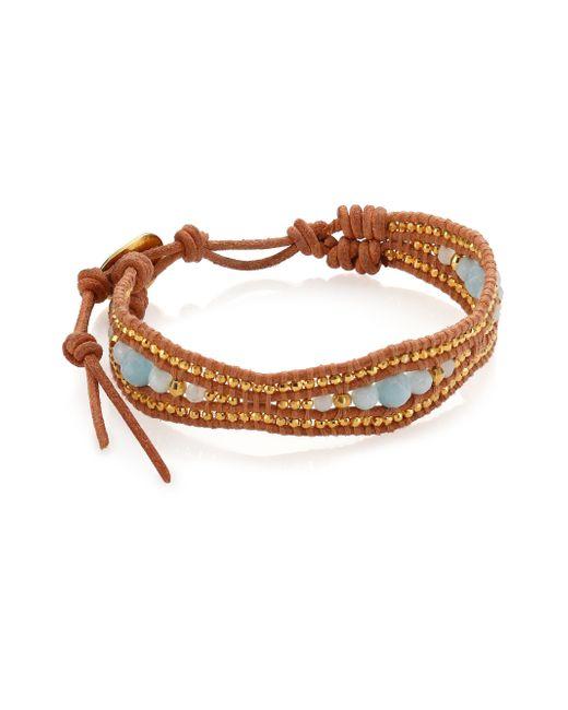 Chan Luu   Blue Amazonite & Leather Bracelet   Lyst