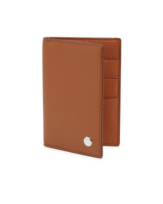 Dunhill Boston Calfskin Leather Business Card Case in