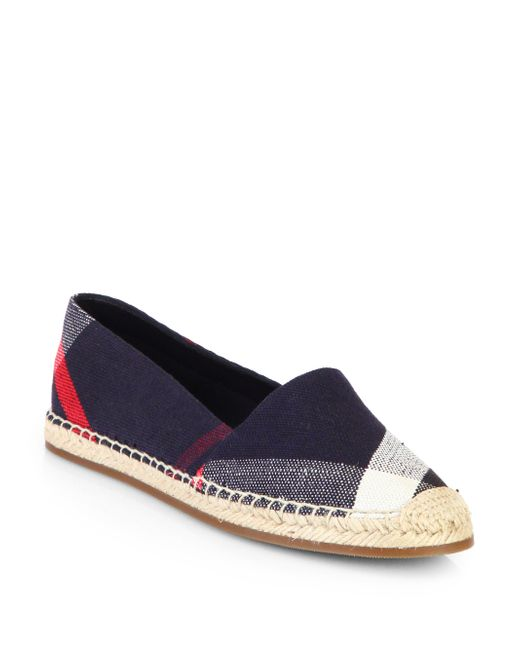 Burberry | Multicolor Hodgeson Check Print Espadrille Flat | Lyst